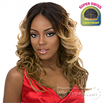It's A Lace Front Wig - Synthetic Lace Front Wig - SWISS LACE WINDLESS (2 Inch Super Deep and Wide Swiss Lace Front)