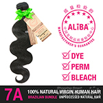 Janet Collection 100% Unprocessed Natural Brazilian Virgin Human Hair - 7A ALIBA NATURAL BODY WAVE 14