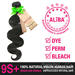 Janet Collection 100% Unprocessed Natural Brazilian Virgin Human Hair - 9S+ ALIBA NATURAL BODY WAVE 10