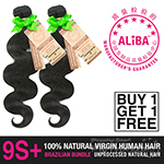Janet Collection 100% Unprocessed Natural Brazilian Virgin Human Hair - 9S+ ALIBA NATURAL BODY WAVE (Buy 1 Get 1 FREE)