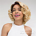 Janet Collection Human Hair Blend Brazilian Scent Lace Front Wig - FIONA
