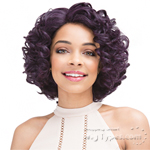 Janet Collection Human Hair Blend Brazilian Scent Pre Tweezed Part Wig - JETTY