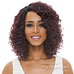 Janet Collection Natural Super Flow Deep Part Lace Wig - BOHEMIAN
