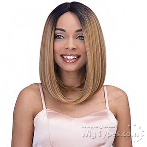 Janet Collection Natural Super Flow Deep Part Lace Wig - SUNNY