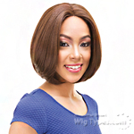 Janet Collection Natural Super Flow Deep Part Lace Wig - AMY