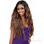 Janet Collection Synthetic Melt Extended Deep  HD Part Lace Wig - BRI
