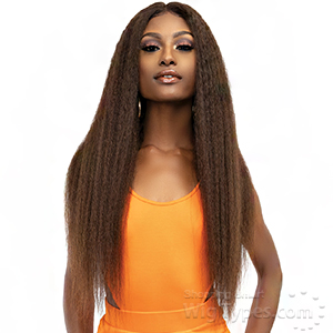 Janet Collection 100% Virgin Remy Human Hair Deep Part HD Lace Wig - KINKY CRIMP