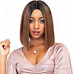 Janet Collection Synthetic Extended Deep Part Lace Wig - TEAH