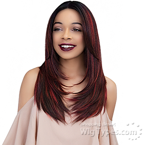 Janet Collection Synthetic Extended Deep Part Lace  Wig  - KATE