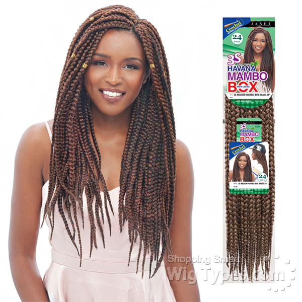 Janet Collection Crochet Box Braids : Janet Collection Synthetic Braid - Havana 3s Medium Mambo Box Braid 24 ...