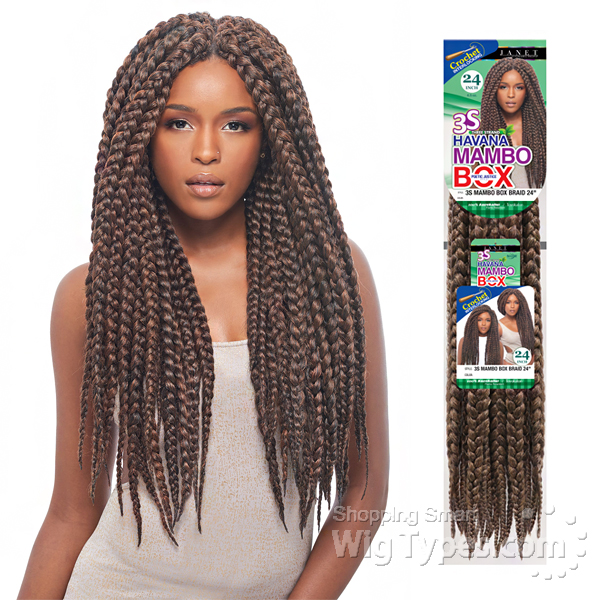 Janet Collection Crochet Box Braids : 24 Box Braid Janet Collection Havana 3s hairstylegalleries.com