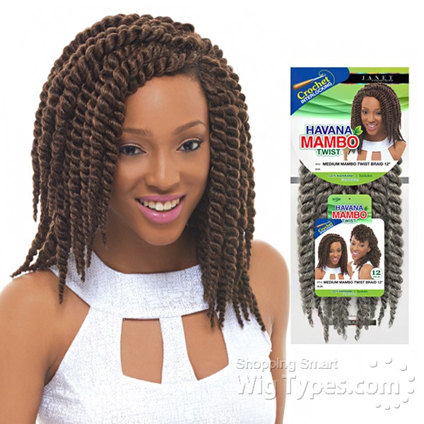 Janet Collection Crochet Box Braids : Janet Collection Synthetic Braid - Havana Medium Mambo Twist Braid 12 ...