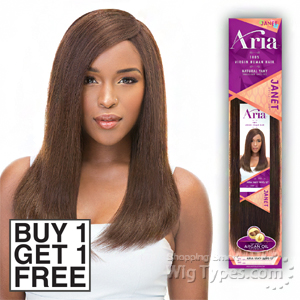 Janet Collection 100% Virgin Human Hair Weave - ARIA YAKY WVG 10 (buy 1 Get 1 Free)
