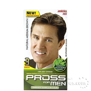 Kiss Pross for Men Permanent Shampoo-In Color MC05 Natural Medium Brown