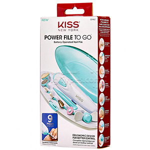 Kiss New York Power File To Go Battery Operated Nail File #02462