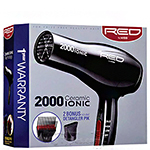 Red by Kiss 2000 Ceramic Ionic Hair Dryer BD06U