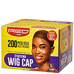Red by Kiss HVP04 Stocking Wig Cap - 200pc Dark Brown