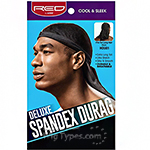 Red by Kiss HDU01 Deluxe Spandex Durag - One Size Black