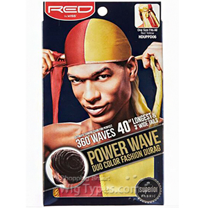 Red by Kiss HDUPPDXX Power Wave Duo Color Fashion Durag