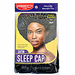 Red by Kiss HSL03 Satin Sleep Cap - Super Jumbo Black