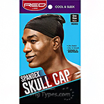 Red by Kiss HSX03 Spandex Skull Cap - One Size Black