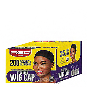 Red by Kiss HVP03 Stocking Wig Cap - 200pc Black