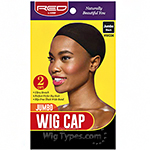 Red by Kiss HWC04 Jumbo Wig Cap - 2 Caps Black