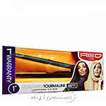 Red by Kiss Ceramic Tourmaline Professional Flat Iron 1 Inch FI100N