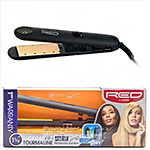 Red by Kiss Ceramic Tourmaline Professional Flat Iron 1 1/4 Inch FI125