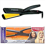 Red by Kiss Ceramic Tourmaline Professional Flat Iron 1 1/2 Inch FI150
