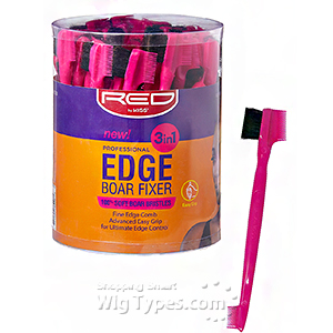 Red by Kiss BSH28 Professional Edge 3in1 Brush with Fine Edge Combs Bucket(48ea)
