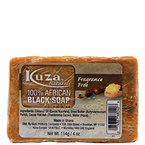 Kuza 100% African Black Soap Fragrance Free