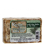 Kuza 100% African Black Soap With Shea Butter & Tea Tree 4oz