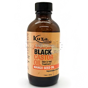 Kuza Jamaican Black Castor Oil Skin & Hair Treatment 4oz - Mango Seed Oil