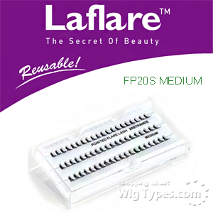 Laflare Eyelashes Artisanal Feather Pointed Silk Individual Lash - FP20S MEDIUM