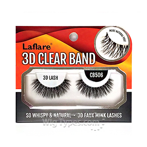 Laflare 3D Clear Band EyeLashes