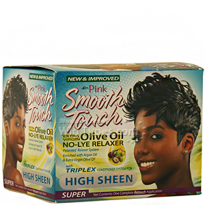 Luster's Pink Smooth Touch Extra Virgin Olive Oil No-Lye Relaxer Kit - Super