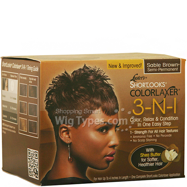 Er S Pink Shortlooks Colorlaxer 3 In 1 Color Relax Kit Sable Brown