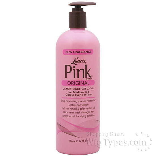 Luster S Pink Oil On Natural Hair