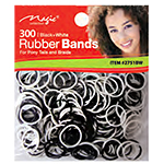 Magic Collection #2751BW Rubber Band 300pc Black & White