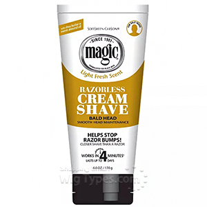 Magic Razorless Cream Shave - Bald Head 6oz