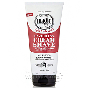 Magic Razorless Cream Shave - Extra Strength 6oz
