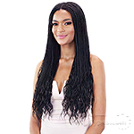 Mayde Beauty Synthetic 4x4 Braided Lace Front Wig - MINI MICRO GORGEOUS BRAIDS 26