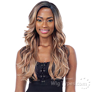 Mayde Beauty Lace and Lace Synthetic Lace Front Wig - LUMIA