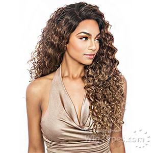 Isis Melanin Queen Human Hair Blend Brazilian Frontal Lace - MLF06 FRENCH WAVE 24 (13x4 free parting)