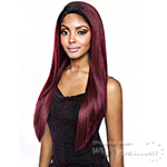 Isis Melanin Queen Human Hair Blend Brazilian Frontal Lace - MLF07 V-CUT STRAIGHT 26 (13x4 Free Parting)