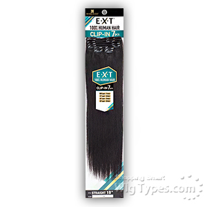 Milky Way 100% Human Hair EXT Clip In Extension STRAIGHT 18 (7pcs)