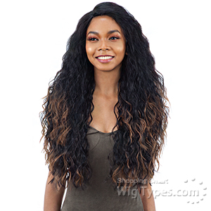 Model Model Synthetic Hair Deep Invisible L Part Wig - JOSEE