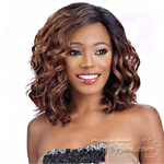 Model Model Synthetic Hair Deep Invisible L Part Wig - JAZZY