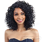 Model Model Synthetic Hair Lace Deep Invisible Diagonal Part Lace Front Wig - BLACK MEADOW